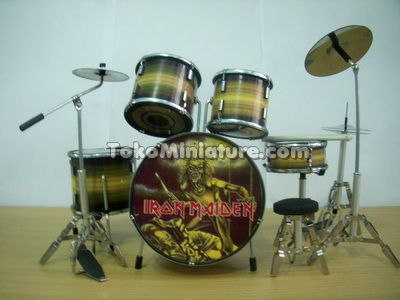 Miniature Drum Iron Maiden
