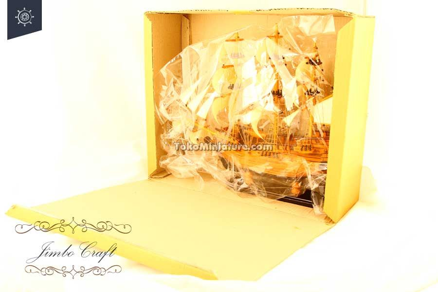packaging miniatur kapal san juan