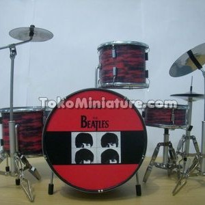 Miniatur Drum The Beatles Red