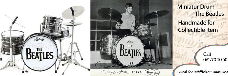 the beatle miniatur drum kit